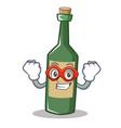 super hero wine bottle character cartoon vector image