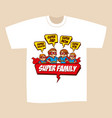 t-shirt print design superheroes family vector image