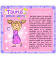 Taurus Zodiac kid vector image
