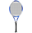 Tennis racket on white vector image vector image