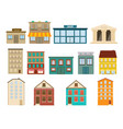 town and suburban buildings icons vector image vector image