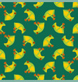 tree frog pattern seamless tropical amphibian vector image vector image