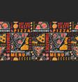 typographic italian pizza and ingredients vector image vector image