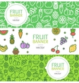 Vegan Banner Flyer Horizontal Set vector image vector image