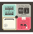 Vintage boarding pass ticket wedding invitation