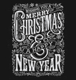 vintage christmas and new year chalkboard vector image vector image