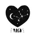 virgo symbol hand drawn zodiac graphic vector image vector image