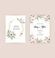 wedding invite invitation design with elegant vector image vector image