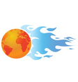 world with flames vector image