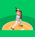 baseball boy mascot poster vector image