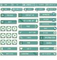 Collection of paper web buttons for your site vector image