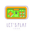 colorful icon of joysticks for video games retro vector image