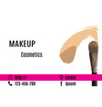 visage of make-up artist with picture of brush vector image