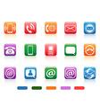 contact button icons set vector image