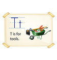 A letter T for tools vector image vector image