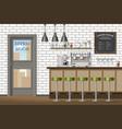 a modern coffee shop vector image vector image