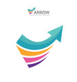 abstract arrow - logo template concept vector image vector image