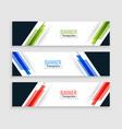 abstract geometric web banners modern set