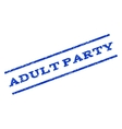 Adult Party Watermark Stamp vector image vector image