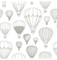 Air Balloons set pattern vector image