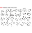 big set valentines day hand written lettering vector image