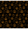 Black halloween print seamless pattern with vector image vector image