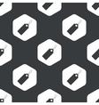 Black hexagon string tag pattern vector image vector image