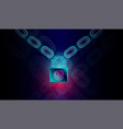 block chain technology with high security vector image vector image