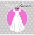 bridal shower dress on hearts vector image vector image