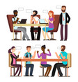 business people conversation in business vector image vector image