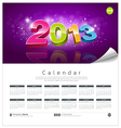 Calendar 2013 new year background vector image vector image