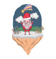 christmas santa claus in landscape vector image vector image