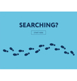 Concept of searching Internet banner Start here vector image vector image