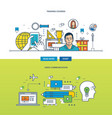 concept - training courses and video vector image vector image