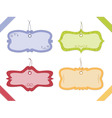 decorative tags vector image vector image