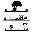 different landscape vector image vector image