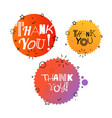 Different thank you tags set banners collection