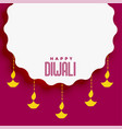 diwali festival background with text space vector image vector image
