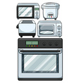 Electronic equipments used in kitchen vector image