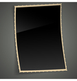 Empty Vintage Photo Frame Background vector image