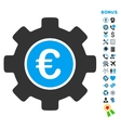 Euro Development Flat Icon with Bonus vector image vector image