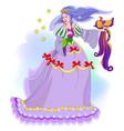 fairyland princess with magic wand and fire-bird