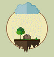 farm oasis vector image vector image