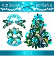 Festive symbols decoration of the Christmas tree vector image vector image