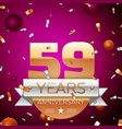 Fifty nine years anniversary celebration design