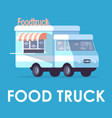 food truck poster template mobile fastfood vector image