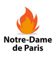 france - april 15 2019 fire in cathedral of vector image vector image