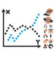 functions plot icon with valentine bonus vector image vector image