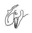 giganotosaurus icon doodle hand drawn or black vector image vector image