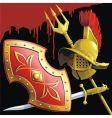 gladiators armament vector image vector image